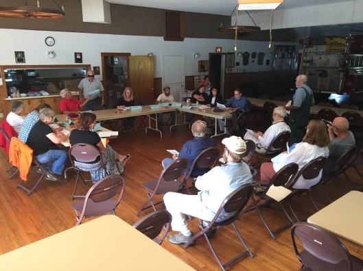 Merger Committee Meeting, Rupert Firehouse, 8/22/16